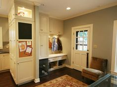 Love the Pet Space in the Mudroom.