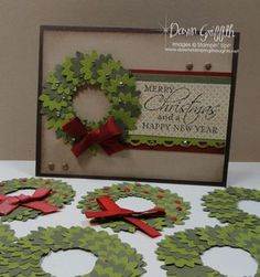 Christmas Wreath made with Boho Blossoms punch
