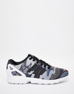 Image 1 of adidas Originals Rita Ora Elegant Print ZX Flux Sneakers