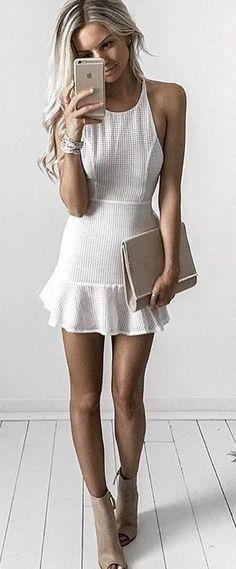 #summer #style |Toby Heart Ginger Mini Dress Roxy Frill Hem
