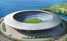 New Book Explores the Design World of Mercedes-Benz Futuristic City, Futuristic Architecture, Modern Architecture, Mercedes Benz, World Cup Stadiums, Stadium Architecture, Sports Stadium, Sports Complex, Football Stadiums
