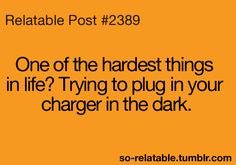 plugging in your charger at night