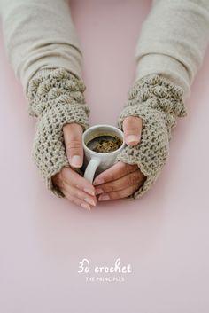 DIY crochet handwarmer pattern - green