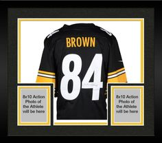 dd0b23b4fde Framed Antonio Brown Pittsburgh Steelers Autographed Nike Limited Black  Jersey  sportsmemorabilia  autograph  football