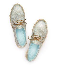 pretty summer shoes Walden Metallic Matelesse Flat | Womens Flats | ToryBurch.com