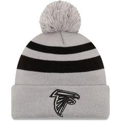 Men s Atlanta Falcons New Era Gray Rebound Pom Cuffed Knit Hat 27ac47f5af3b