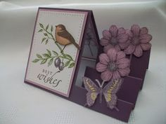 handmade greeting card from Stamping Moments: Touch of Nature 3D Cards and Box Envelope Stamp Class ... side step card ... Stampin' Up!