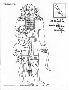 Gilgamesh coloring page