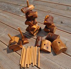 Holzspielzeug - * Schtabi * Holz Spielzeug Spiel Bausteine Waldorf - ein Designerstück von kirschguzle bei DaWanda