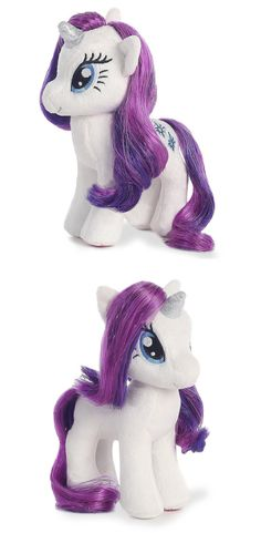 My Little Pony Rarity Unicorn Plush. She has beautiful fur for cuddling and can style her mane and tail to create different looks.  #unicorn #plushtoy #stuffedtoys #afflink