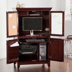 Home Styles Charleston Coffee Computer Armoire
