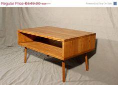 ETSY SUMMER SALE Oak Coffee Table Danish Modern by HardmanDasein, €521.55