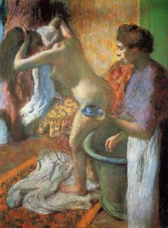 Edgar Degas -The Cup of Tea (Breakfast after Bathing), 1883