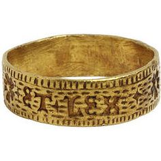 Engraved Ring from the Second Quarter of the 15th Century from the Victoria & Albert Museum