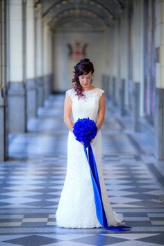 Bright Blue And White Wedding Decorations Adelaide