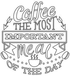 Coffee Break - The Most Important Meal of the Day | Urban Threads: Unique and Awesome Embroidery Designs