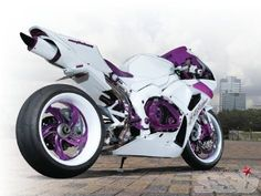 Custom 2007 Honda CBR1000RR | Custom Honda | Motorcycles | Purple | White