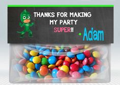 PJ Masks Bag Toppers 6th Birthday Parties, Birthday Favors, Birthday Diy, Birthday Ideas, Third Birthday, Aaliyah Birthday, Mask Party, First Birthdays, Party Time