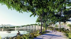 BIG, Hijjas and Ramboll selected as winners of the Penang South Islands Design Competition Penang Island, Mangrove Forest, Water Resources, Island Design, Design Competitions, Urban Life, South Island, Master Plan, Future City
