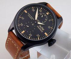 Parnis Big Pilot PVD Black Dial Watch