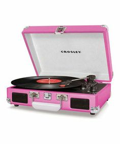 Awwww yea....pink record player. Nothing sounds better than vinyl LPs!