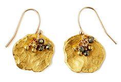 Golden Flake and Pyrite Earrings on OneKingsLane.com