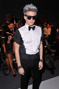 Adam Lambert Photo - Falguni & Shane Peacock - Front Row - Spring 2013 Mercedes-Benz Fashion Week
