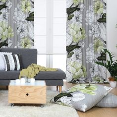 Jardin Green Fabric Designed by Vallila Interiors of Helsinki and exclusive in NZ to Harvey Furnishings.