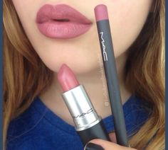 the liner might be twirl or spice and i think the lipstick is twig | MAC