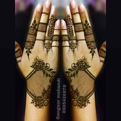 When the festival is about Goddess it calls for mehendi designs. We here have 15 Rajasthani full hand mehendi designs which will blow your mind. Khafif Mehndi Design, Full Hand Mehndi Designs, Mehndi Designs For Beginners, Modern Mehndi Designs, Bridal Henna Designs, Mehndi Design Photos, Mehndi Designs For Fingers, Beautiful Henna Designs, Latest Mehndi Designs