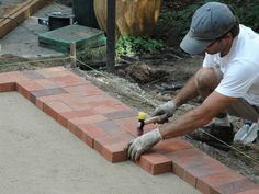 How to Lay a Brick Paver Patio : How-To : DIY Network...reminds me of my Dad and all the weeds he has fought over the years!