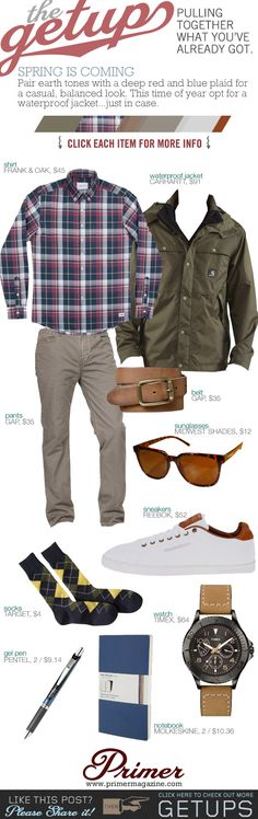 Another nice way to team chinos... check shirts are your thing anyway... Should look hot :)