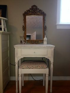 Repurposed sewing machine table