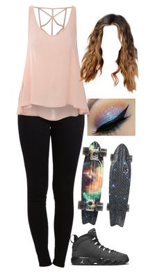 """Lucy excersizes 3"" by selinalindroth ❤ liked on Polyvore featuring Pieces, Globe and Glamorous"