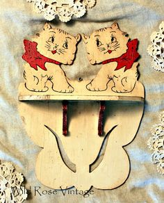 Vintage Kitten Shelf