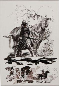 Original Comic Art:Panel Pages, Arthur Suydam Frank Frazetta Death Dealer #4 Page 21Original Art (Verotik, 1997).... Image #1