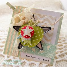 Card made with the #epiphanycrafts Shape Studio Tools Star and Pennant. www.epiphanycrafts.com #mayaroad   #octoberafternoon #card