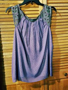 PLUM BLOUSE LAYERED SLEEVELESS TOP - 1liltreasure2find