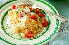 Recept tomatrisotto Veg Recipes, Vegetarian Recipes, Recipies, 20 Min, Wok, Lchf, Fried Rice, Risotto, Squash