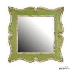 Espejo Vintage Verde