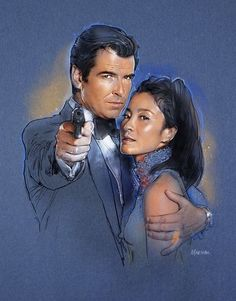Pierce Brosnan and Michelle Yeoh, Tomorrow Never Dies.