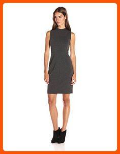 T Tahari Women's Paloma Dress, Charcoal Melange, 12 - All about women (*Amazon Partner-Link)