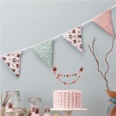Patchwork Owl - Fabric Bunting (3.5m) available online from PartyLady.co.za delivered throughout South Africa