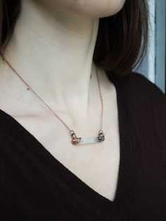 Electroformed quartz pendant. Copper pendant. electroformed. natural quartz. crystal. boho. Unique gift. by BYKETUA on Etsy