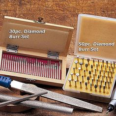 Diamond Burr Sets - works with standard Dremels!  Drilling rocks here I come!