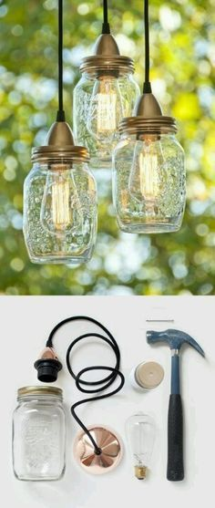 Mason Jar Lighting   DIY (I so want to try this!)