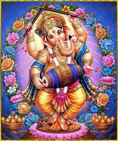 Dans l'hindouisme, Gaṇesh, Gaṇesha, Vinâyaka, Gaṇapati est le dieu qui supprime les obstacles. Il est aussi le dieu de la sagesse, de l'intelligence, de l'éducation et de la prudence, le patron des écoles et des travailleurs du savoir. Il est le fils de Shiva et Pârvatî, l'époux de Siddhi (le Succès), Buddhi (l'Intellect) et Riddhî (la Richesse)........