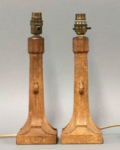 Robert Mouseman Thompson Lamps