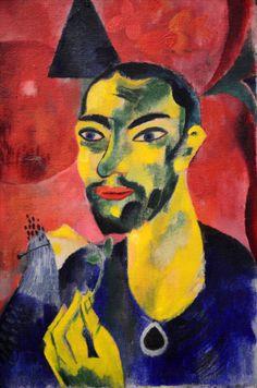 Heinrich Campendonk - Man With Flower (Stedelijk Museum / 1918)
