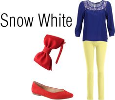 """""""Snow White Disneybound Outfit"""" by hannahstrawberry on Polyvore. @Deann Ragsdale .... You totally should. ;)"""